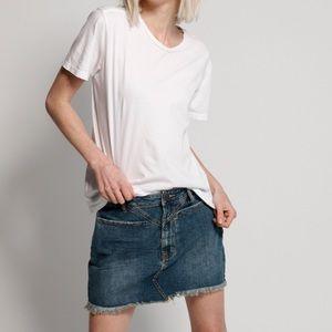 PRICE DROP!One Teaspoon Dirty Indigo Trucker Skirt